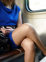 Hidden cam, Voyeur, Train, Hidden, Legs, Sexy