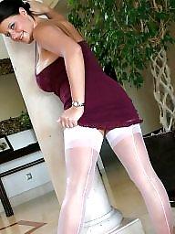 White stockings, White stocking, White matures, Stockings white, Silky, Sexy mature in stockings