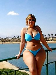 woman Thong bikini mature older