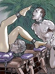 Femdom cartoon, Femdom, Bdsm cartoon, Art, Cartoons