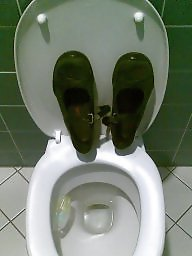 Toilett, With fun, Stinky shoes, Stinky, Office,, Office funny