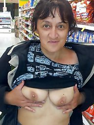 Flashing tits, Voyeur, Flashing, Saggy