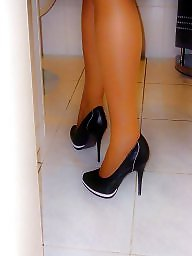 Pumps, Pumping, Pump pumped pumping, Stockings high heels, Stockings heels, Stockings heel amateur