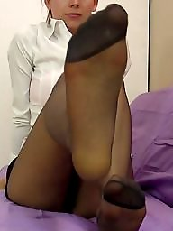Nylons, Nylon feet, Stocking feet, Amateur feet, Feet