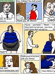 Comics, Comic, Weight gain, Bbw comic, Bbw comics