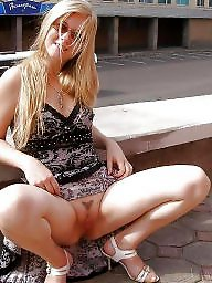 Upskirt, Public, Flashing, Public nudity, Flash, Squat