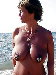 Mature beach, Beach, Saggy, Skinny