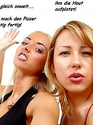 Femdom caption, Femdom captions, German caption, Captions, German, Teen femdom