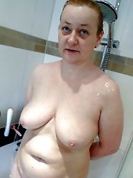 Shower, Granny, Flashing, Naked