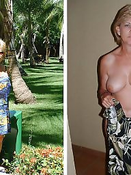 Mature dressed undressed, Mature tits, Undress, Milf dressed undressed, Dressed