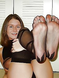 Nylon feet, Nylon, Nylons, Feet, Stocking feet