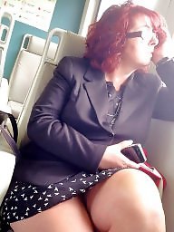Mature upskirt, Train, Upskirt mature, Face