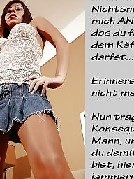 German captions, Femdom caption, Teen femdom, German, Teen captions, Bdsm captions