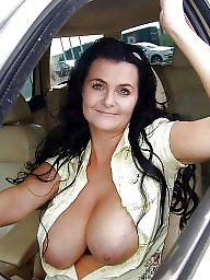 Flash, Car, Amateur mature, Mature amateur, Mature flashing, Flashing