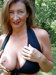 Milf tits out