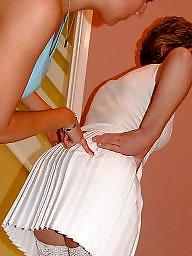 Sara, Mature stockings, Massage