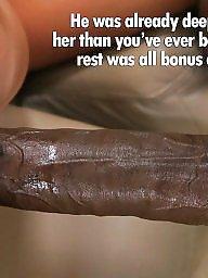 Cuckold caption, Interracial captions