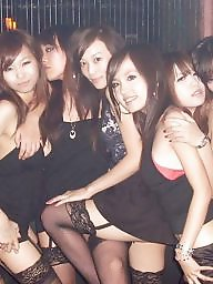 Asian stockings, Japanese amateur, Clubbing, Club