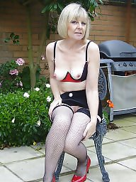 British mature, Mature stockings, British, Blond mature, Mature blonde