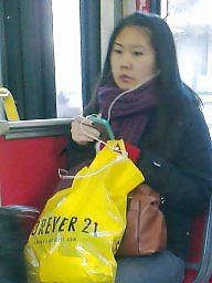 Hidden cam, Asian, Bus, Hidden