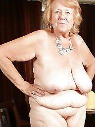 Granny, Mature big tits, Granny tits