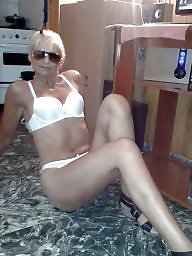 Cougar, Blonde mature, White