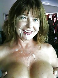 Facials, Sperm, Wedding, Wives, Ring, Milf facial