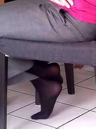 Mother, Nylon feet, Mother in law, Nylon, Amateur stockings, Voyeur