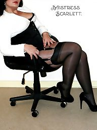 Office, Mistress t, Upskirt, Amateur mistress, Mistress