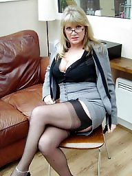 Stockings, Stocking, Milf, Office