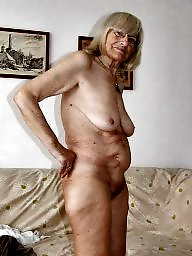 Blonde hairy granny