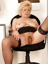 Grannies, Granny, Hairy mature, Granny boobs