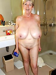 Mature, Granny, Big tits, Big boobs, Big, Mature tits