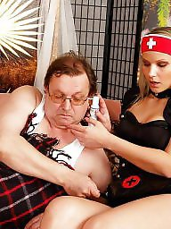 Nurse, Old young, Young, Young tits, Daddy