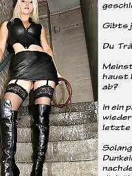 Femdom captions, German captions, Femdom caption, German caption, German, Bdsm captions