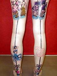 Tattoo, Legs, Tattooed