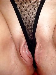 Mature pussy, Thong