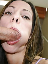 Facials, Crazy, Wife, Milf facial, Wife facial, Brunette milf