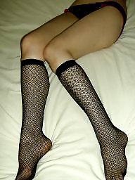 High stockings, Knee stocking, Knee stockings, Knee highs, Knee high, Knee-high