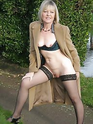 Mature stockings, British mature, British, Blond mature, Mature blonde