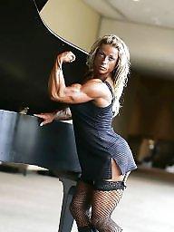 Femdom, Heels, High heels, High heel, Bodybuilder