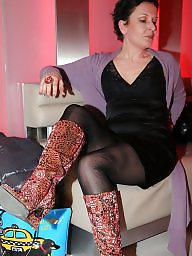 Boots, Amateur boots, Mature stockings, Mature boots, Mature stocking
