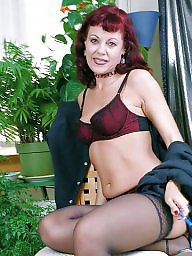Mature, Stockings, Mature stockings, Milf
