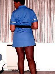 Stockings ebony, Nursing, Ebony stockings, Nurse