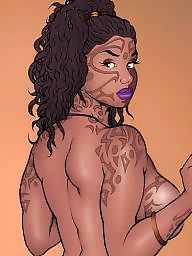 똥꼬치마, 만화똥꼬, 흑인여자