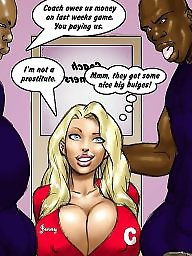 Interracial cartoon, Cartoons, Cartoon, 2 hot blondes, Cartoon interracial, Interracial