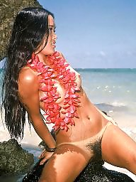Tanlines, Hairy brunette, Hairy public, Hawaii, Tanline