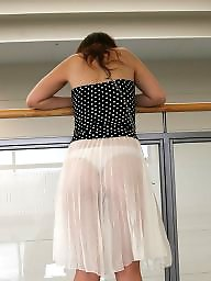 Amateur thong, Thong, Dressed, See through, Dressing, Public thong