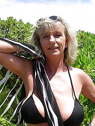 Granny, Beach, Mature, Granny beach, Big boobs, Mature beach
