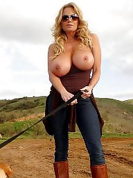 Outdoor, Mature big tits